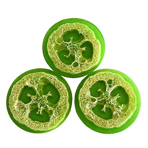 Handmade Loofah Soap - Olive Oil Lime Scent