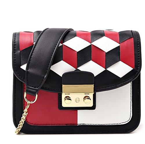 Sra La Moda Personalidad Femenino Diagonal Bolso Lingge Portátil Mujer De Simple Bao Red Paquete FIxwSgtqxn