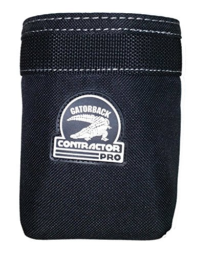 Contractor Pro Open Add on Pouch for Tool Belts, Tool Pouches and Tool Bags. Large Pouch By Gatorback for Electrician, Carpenter, Contractor, Dry Waller, (Large Tool Pouch)