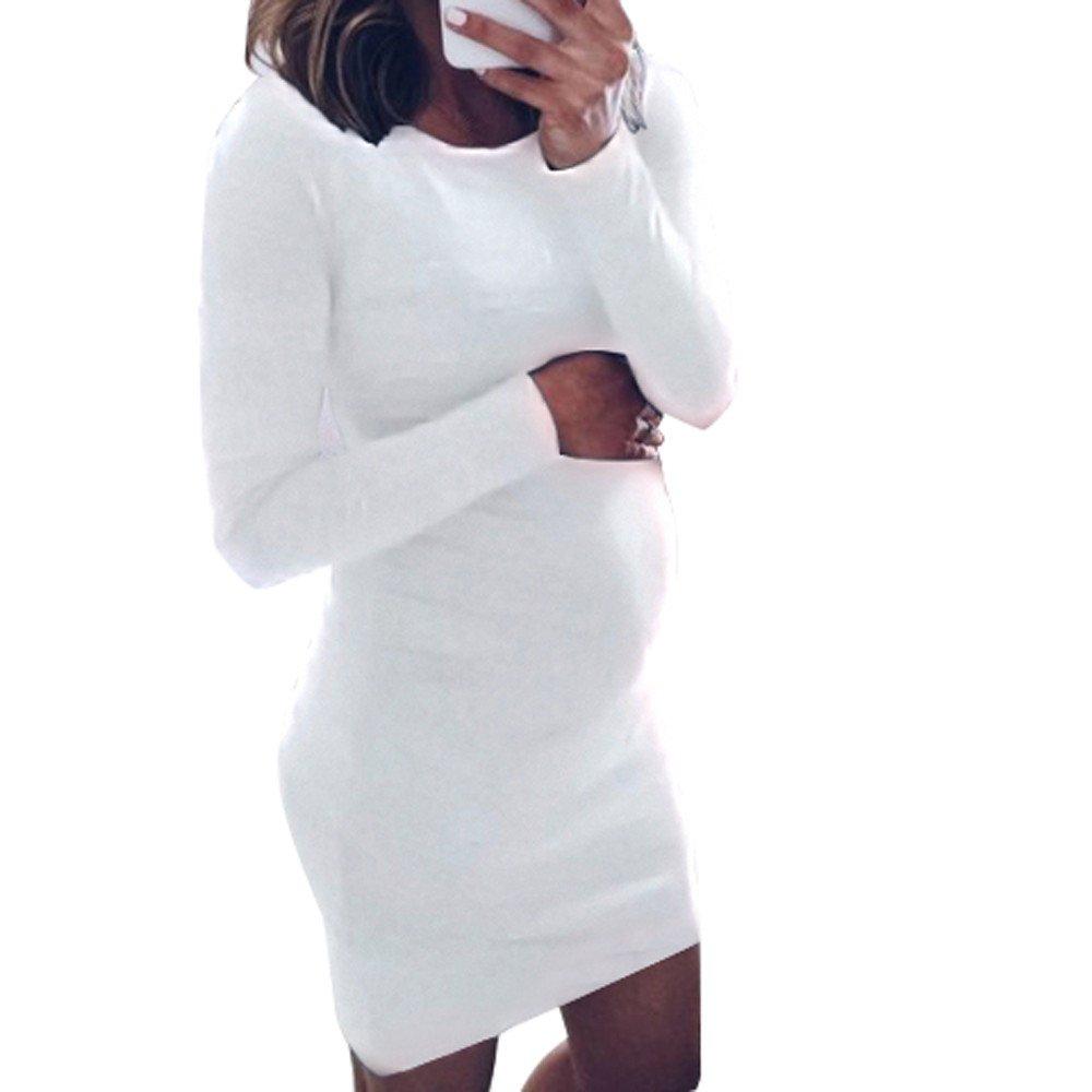 Ropa premamá, YiYLinneo Ropa Embarazadas Mujeres Cuello Redondo Pure Loose Maternity Manga Larga Blusa Superior Camisa Amamantamiento La Camisa: Amazon.es: ...