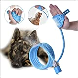 Teemo Pet Bathing Tool for Dog,Sprayer and Scrubber in-One Pet Bathing Tool Massage Brush and Hose for Dog Cat Grooming Brush Adjustable Strap