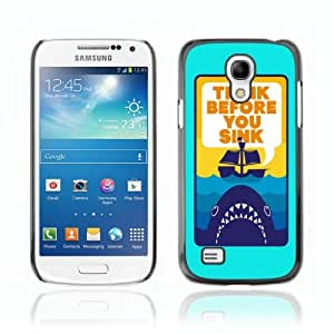 Designer Depo Hard Protection Case for Samsung Galaxy S4 Mini / Shark Message