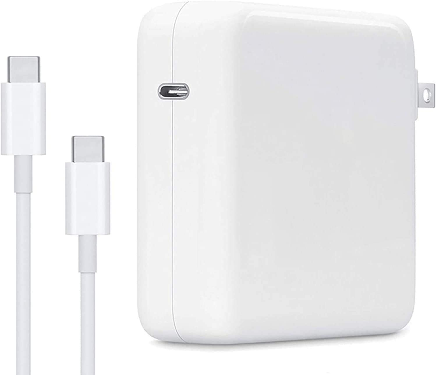Mac Book Pro Charger, 61W USB C Charger Power Adapter with USB C Cable for Mac Book Pro 15, 13 Inch, New Mac Book Air 13 Inch