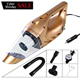 iphonepassteCK Multifunctional Handheld Vacuum Cleaner Portable Wet & Dry Auto Vacuum Cleaner for Car with LED Light, DC 12V 120W 4500PA