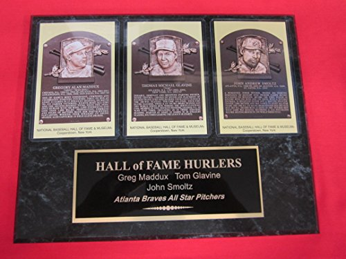Fame Induction Card - Greg Maddux Tom Glavine John Smoltz BRAVES Hall of Fame Induction Postcard Plaque NEW DESIGN!!