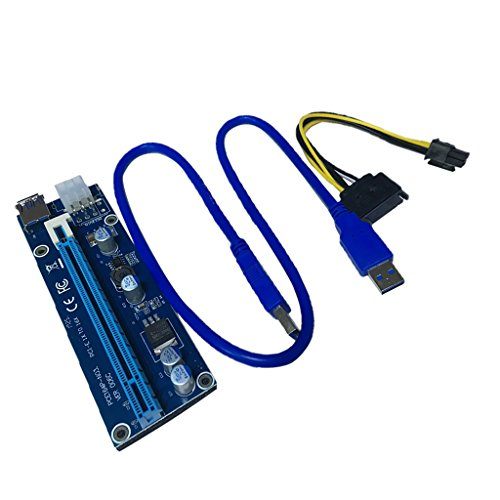 Homyl 1X to 16X PCI-Express Card Cable Power Riser for Bitcoin Mining Motherboard by Homyl (Image #6)