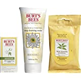 Three of Burt's Bees face care favorites are included in this multipack. You can start your day with Burt's Bees Soap Bark and Chamomile Deep Cleansing Cream. This 100% natural cream face wash with natural soap bark deeply cleanses, removes dirt, exc...