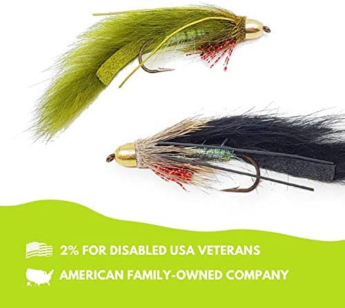 The Fly Crate Conehead Muddy Bunny Streamer Assortment Fly Fishing for Trout Bass Pike