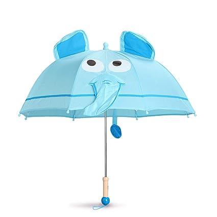 Betty Paraguas Infantiles, Primer Cristal Transparente para Ventana, Ojos 3D, Paraguas de Lluvia