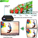 Oakletrea VX4B 1200 Lumens 1080P Portable Multimedia Mini LED Projector with USB VGA HDMI AV Remote (Black)