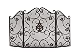 Deco 79 Metal Fire Screen, 47 by 30-Inch