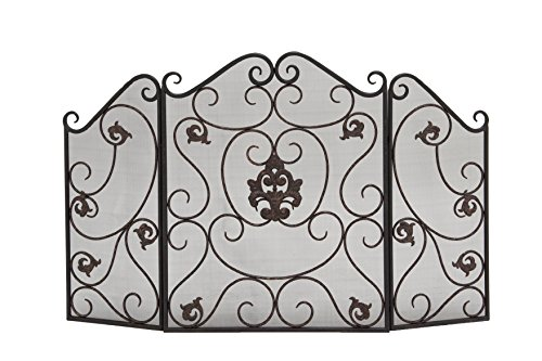 Deco 79 Metal Fire Screen, 47 by 30-Inch by Deco 79