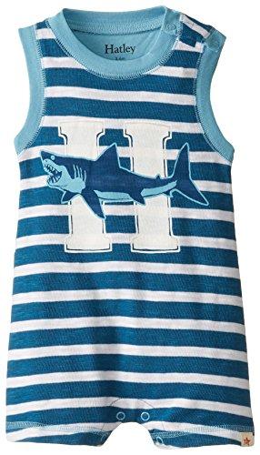 Hatley Baby Boys Newborn Sleeveless Romper Shark