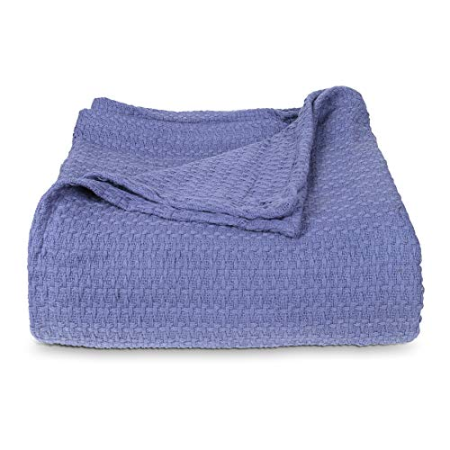 Arkwright Cotton Hotel Blanket - Premium Lightweight, Warm and Soft bedspread -Breathable Cozy Throw for All Seasons with Basket Weave Pattern (Waffle Weave Bedspread)