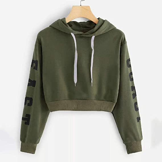 Sale! Teresamoon Women Autumn Long Sleeve Hooded Hoody Hooded Ladies Sweatshirt Long Tops Blouse at Amazon Womens Clothing store: