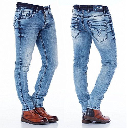 Cipo & Baxx Herren Freizeit Hose Denim Jeans blau
