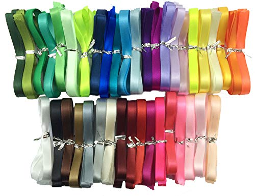 Satin Ribbon 40 Colors X 2 Yard Each Total 80 Yds Per Package (3/4