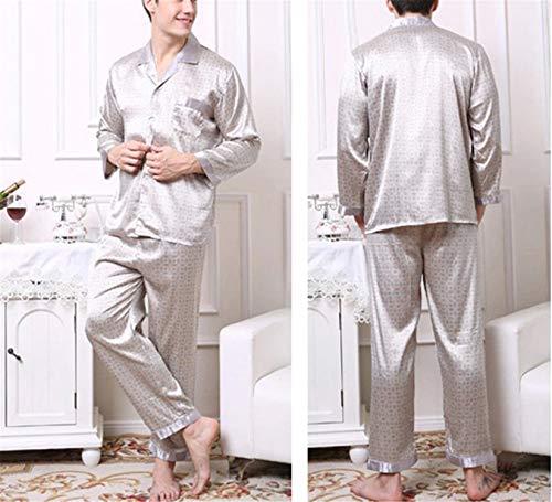Sleepwear Lunghe Da Home Style8 Maniche Notte Set Pigiama Auspiciousi Camicie Uomo wZqXORRx7