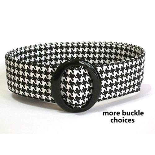 - Womens Fabric Belt - Black White Houndstooth Belt/D-ring Women's Fabric Belt/Waist Belt in Wide or Skinny Widths Alabama Crimson Tide Football fan