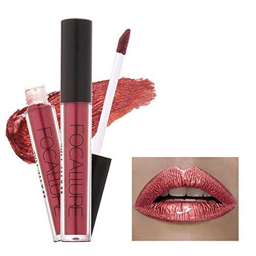 Gracefulvara Waterproof Long Lasting Metallic Matte Lip Gloss Non-stick Cup Lipstick 22#