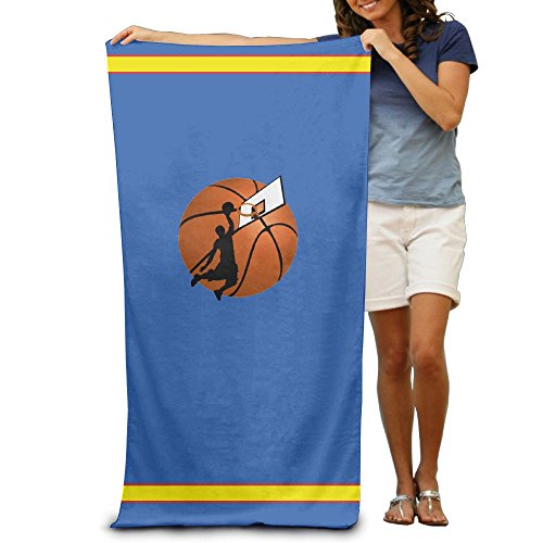 Mortimer Gilbert BASKETBALL DUNK Printed Beach Towel Tablecloth Beach Towel 80cm130cm Soft, Quick Dry, Lightweight, Absorbent (Lobster Weights Tablecloth)