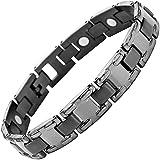 Willis Judd Mens Gunmetal Titanium Magnetic Bracelet In Black Velvet Gift Box + Free Link Removal Tool