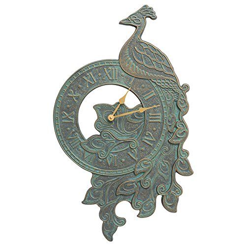 Peacock Indoor Outdoor Wall Clock - 02186 by Whitehall