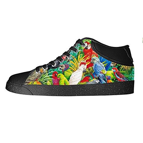 Custom Uccello e foresta Mens Canvas shoes I lacci delle scarpe in Alto sopra le scarpe da ginnastica di scarpe scarpe di Tela.