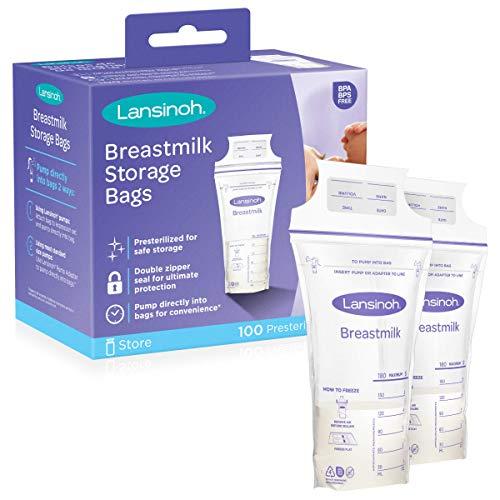 Lansinoh Breastmilk Storage Bags, 100 depend