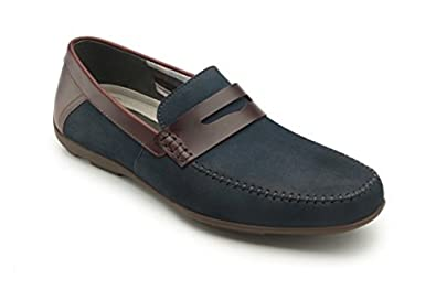 aaaa64f0428 flexi SOHO Men s Nubuck Leather Casual Penny Loafer Style Slip-On Shoe