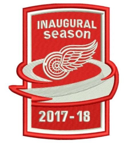 - The Hockey Company RED WINGS INAUGURAL SEASON PATCH 2017-18 SEASON JERSEY PATCH PUCK DESIGN DETROIT