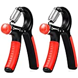 Hand Grip Strengthener 2 Pack,Raniaco Adjustable Hand Exercisers with Resistance Range 22 to 88 Lbs