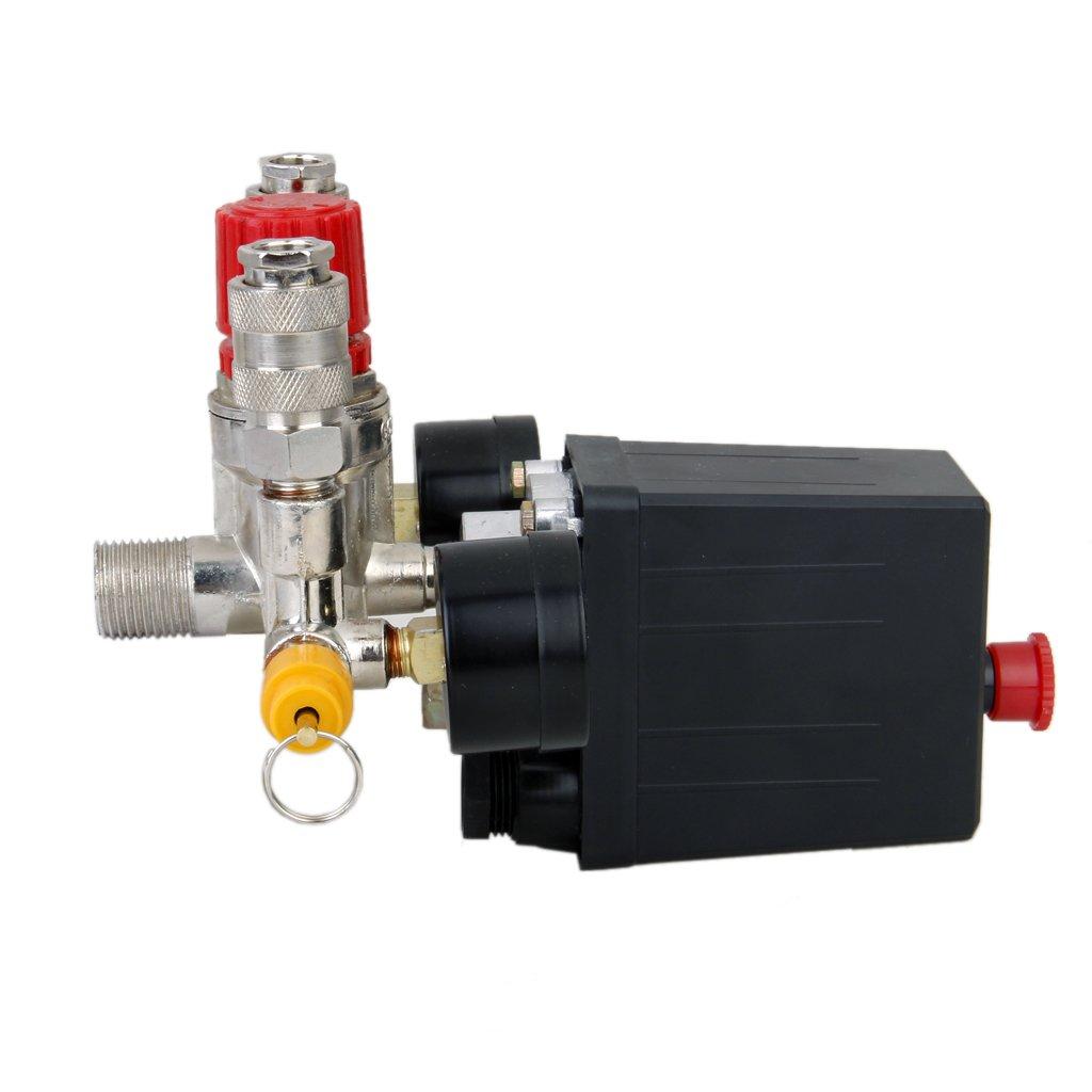 Interruptor de Control de Presión de Compresor de Aire Válvula Presión 0,5-1,25: Amazon.es: Bricolaje y herramientas