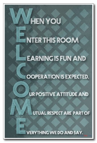 welcome new classroom motivational poster by posterenvy