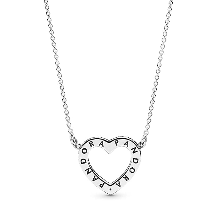 8b41f1aab41f2 PANDORA Loving Hearts Of Pandora Necklace, Sterling Silver, Clear Cubic  Zirconia, 17.8 IN