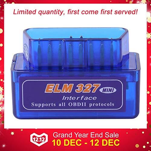 camellia-uk Mini ELM327 V2.1 OBD2 II esc/áner de Interfaz de diagn/óstico Bluetooth para Auto Herramienta de diagn/óstico ABS Premium Azul