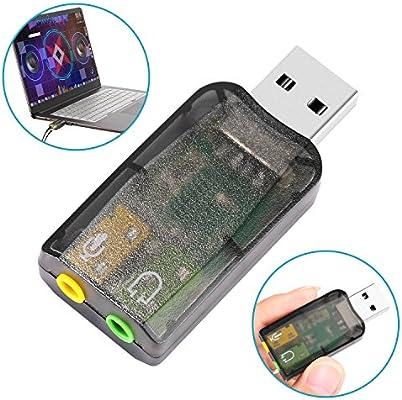 Neewer USB Externo Estéreo Sonido Adaptador Conecta y ...