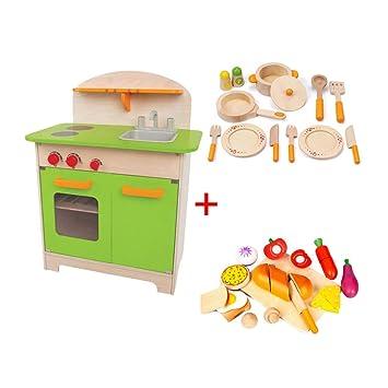 Amazon.com: Kitchen Toys Kitchen Playsets Children\'s Wooden ...