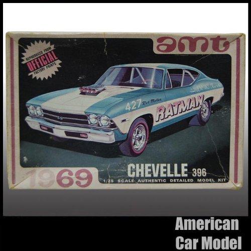 69 Chevrolet Chevelle 396 RATMAN 1969 シボレー シェベル amt Y910-200 1:25スケール chevy シェビー プラモデル [並行輸入品]