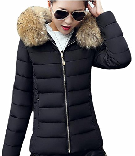 Ptyhk RG Womens Down Coat Full Zipper Faux Fur Collar, used for sale  Delivered anywhere in USA