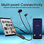 JBL Tune 115BT by Harman in-Ear Wireless Headphones with Deep Bass, 8-Hour Battery Life and Quick Charging (Black)