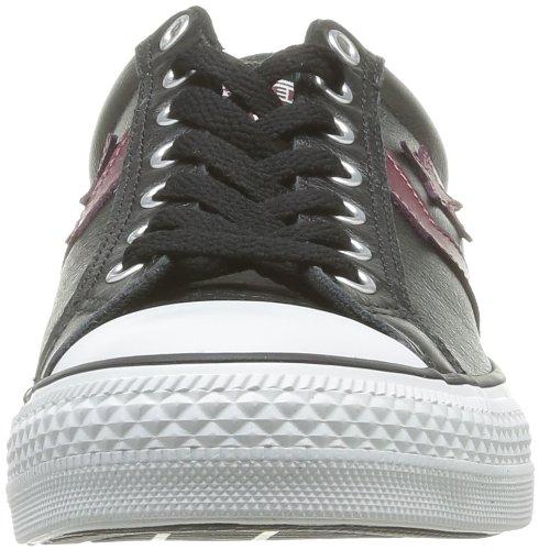 Converse Sp Ev Cuir Ox 066740-520-82 - Zapatillas para mujer Negro (Schwarz (NOIR/BORDEAUX))