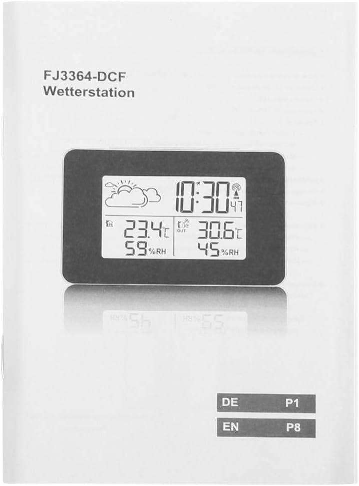 Boquite Station m/ét/éo m/ét/éo LCD sans Fil avec r/éveil num/érique