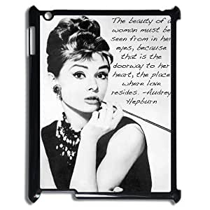 DIY High Quality Case for Ipad 2,3,4, Audrey Hepburn Quotes Phone Case - HL-539225