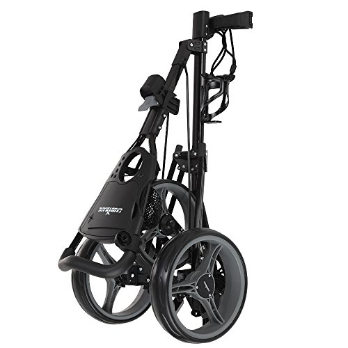 Caddymatic Golf X-TREME 3 Wheel Push/Pull Golf Cart with Seat Black by Caddymatic (Image #2)