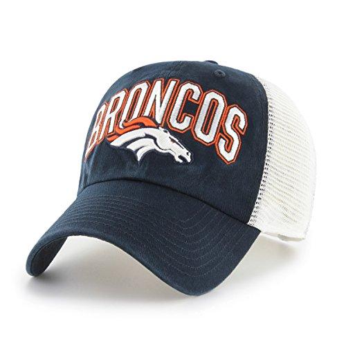 NFL Denver Broncos Adult NFL Decry Ots Challenger Adjustable Hat, One Size, Navy -