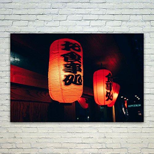 Westlake Art Poster Print Wall Art - Red Chinese - Modern Pi
