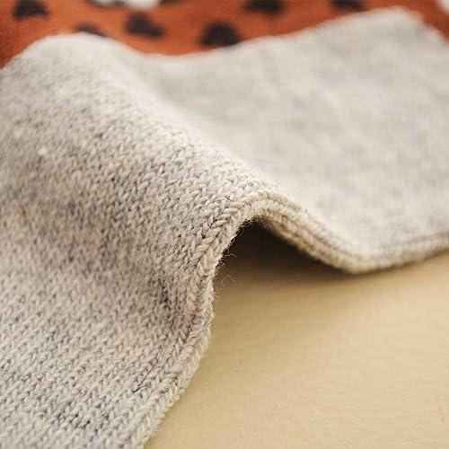 5 pairs 5 colors giraffe cartoon pattern socks womens cashmere winter stockings