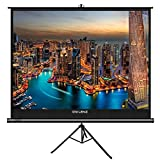 The First Projector Screen with Stand No Odor, OWLENZ Indoor and Outdoor Movie Screen 100 inch Diagonal 4:3 with Premium Wrinkle-Free Design (Easy to Clean, 1.1 Gain, 160° Viewing Angle)