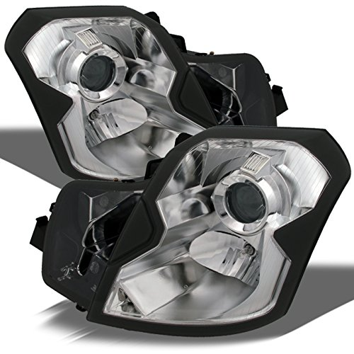 For Cadillac CTS Halogen Type Chrome OE Replacement Headlights Driver/Passenger Head Lamps Pair New